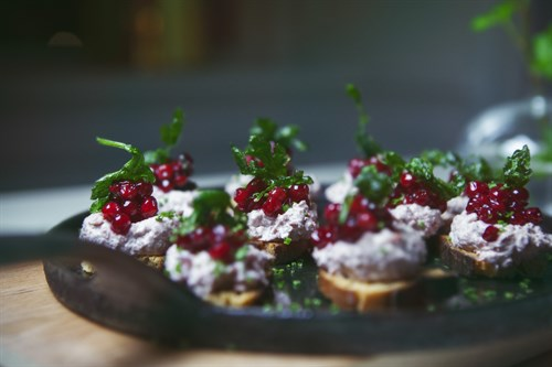 Morsels of smoked reindeer and Speyburn 10 Years Old spiced lingonberries
